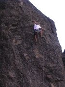 Rock Climbing Photo: Aaron Rough on Svetlana, Table Rock, MSH.