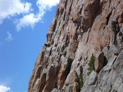 Rock Climbing Photo: Lots of people get off route on Astro Elephant loo...