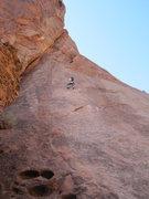 Rock Climbing Photo: Start. Heading for left facing corner.