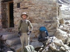 This is a picture of me on Muir Pass in Kings Canyon NP, not long after spraining my ankle