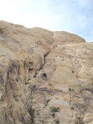 Rock Climbing Photo: Paul starting the 200' P2
