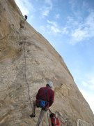 Rock Climbing Photo: Andy higher on P4
