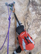 Rock Climbing Photo: Water and Sandwich carrier