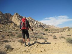 Rock Climbing Photo: Back To Camp. A) The last third of the Mile and a ...