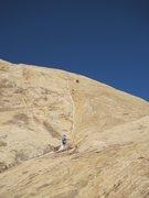 Rock Climbing Photo: P1 near Belay