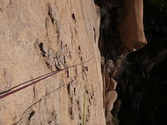 Rock Climbing Photo: Photo taken from the top of the first pitch.  Prot...