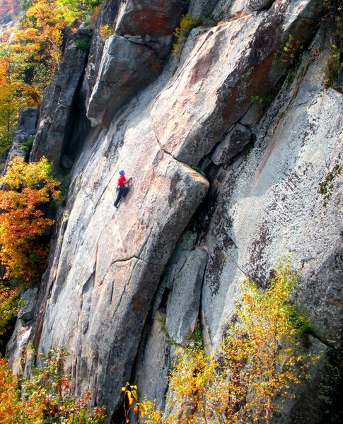 Rock Climbing Photo: Jay H. leads Broken Broom in Roctober.