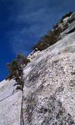 Rock Climbing Photo: The actual fingertip traverse section, the money p...