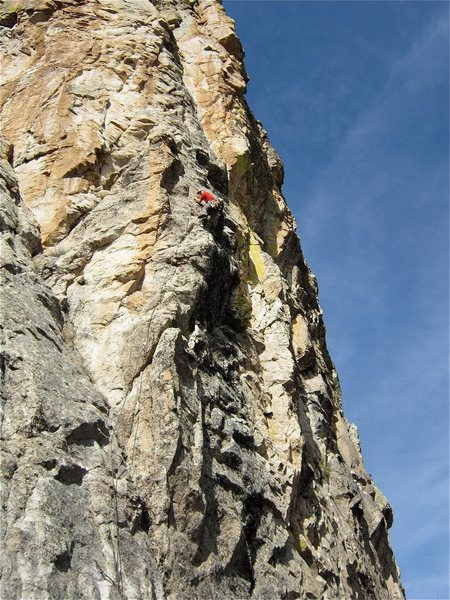 Rock Climbing Photo: You can see the dihedral above the climber that is...