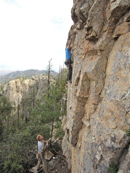 Rock Climbing Photo: JSt gettin it done.