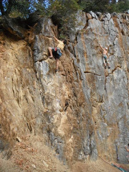 Rock Climbing Photo: Gone Coastal @ Auburn.  Easy warm up.