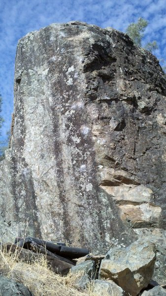 Rock Climbing Photo: The right line on face hugging the arete. The more...
