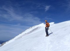 Rock Climbing Photo: Nearing the summit of Galenstock 3580m