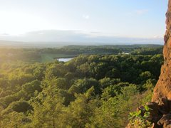 Rock Climbing Photo: View from top of Wiessner slab Sept 2012