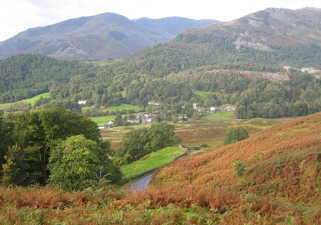 Elterwater village. Bowker