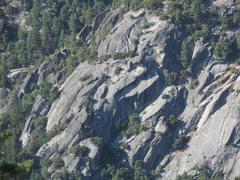 Rock Climbing Photo: Knob Hill; telephoto panorama.