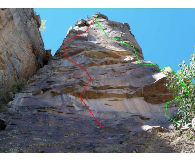 Route on climbers' left