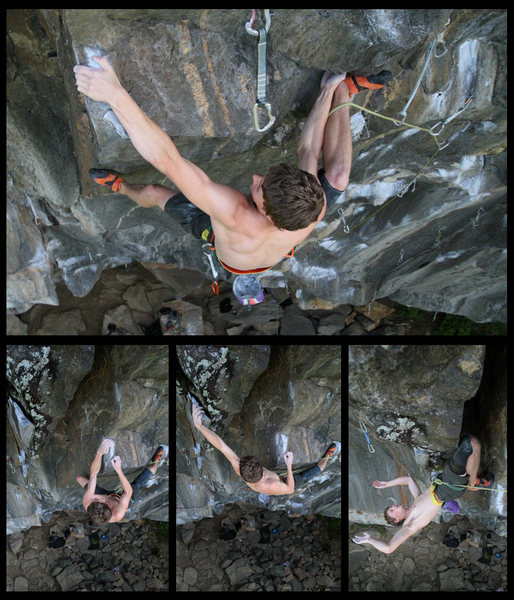 i made this composite of the redpoint crux moves when i was working it then i just came across it so figured id sahre it... if you want to do this route... you need to know these moves! :)<br>
