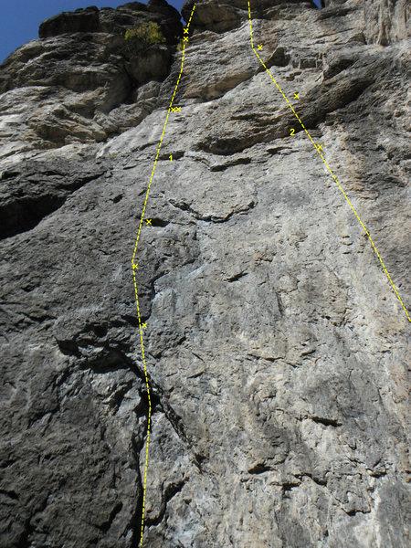 Rock Climbing Photo: illusions 5.10a adios amigos 5.12a