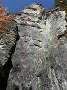 Rock Climbing Photo: 1.Begging For Bolts 5.11a 2.Terminalogical Inaxtit...