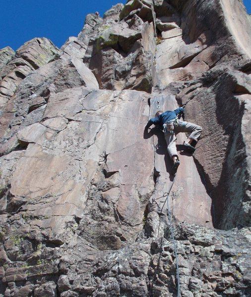 Rock Climbing Photo: Mike Keegan, pulling through the crux.
