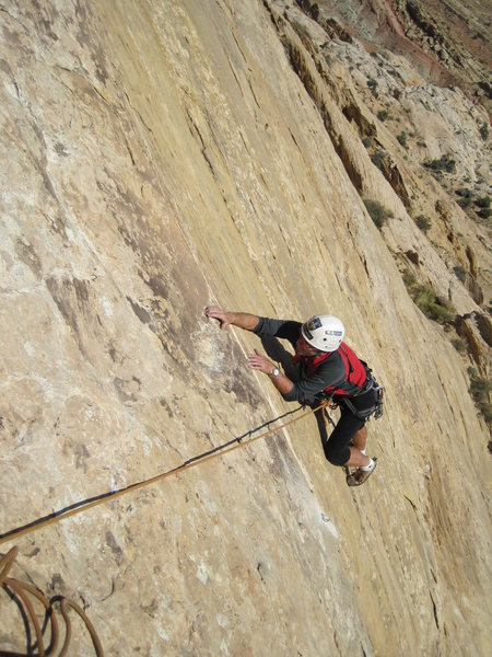 Rock Climbing Photo: Paul near top of P1