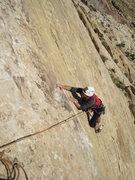 Rock Climbing Photo: Paul near top of P1