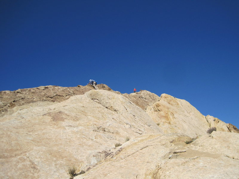 Rock Climbing Photo: 4th Class scramble to the summit