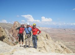 Rock Climbing Photo: Three Stooges on top