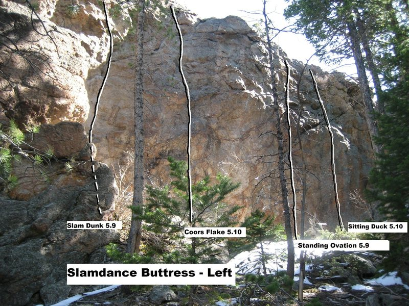 Slamdance Buttress Left.<br> <br> Photo courtesy of Rich Perch.