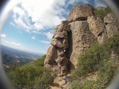 Rock Climbing Photo: Beta photo for Shute-Mills Route