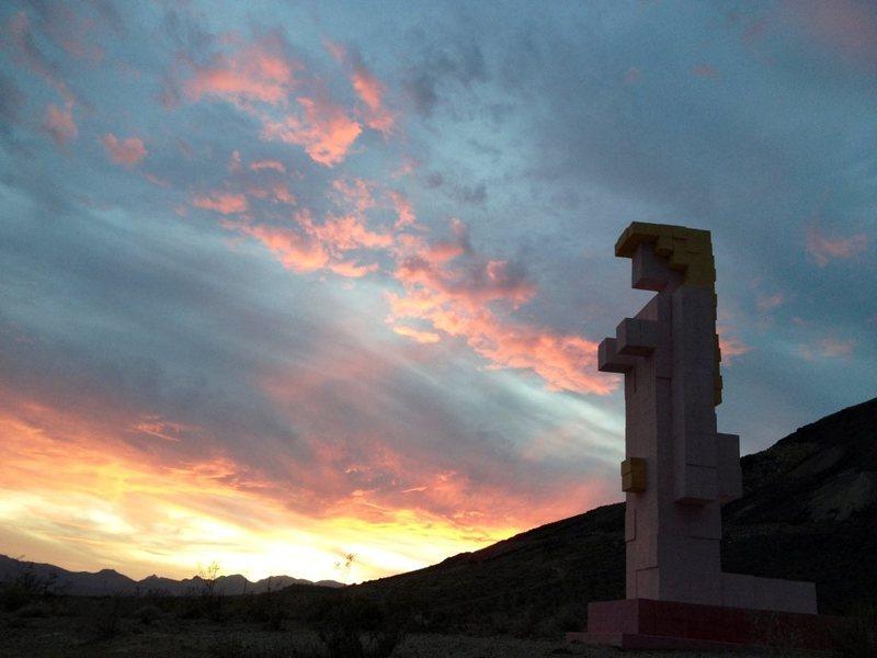 Sunset in Rhyolite, NV. Taken 10/5/12.