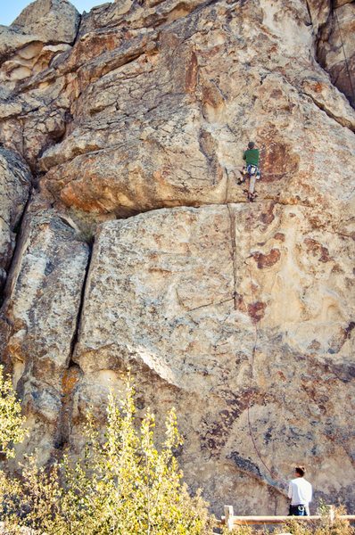 Rock Climbing Photo: Climbing Rollercoaster 5.9 at City of Rocks, Idaho