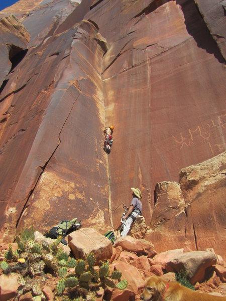 Rock Climbing Photo: C-Money makin' it look easy.