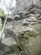Rock Climbing Photo: Blustery Day on the left, Victim of Love in the mi...