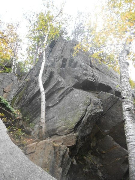 Rock Climbing Photo: A good look at the layback flake to start
