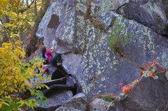 Rock Climbing Photo: Katie on Fat Raccoon.