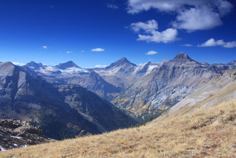 The Sneffels Range and Yankee Boy Basin.