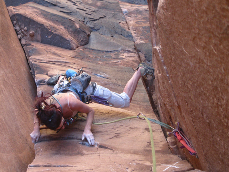 Rock Climbing Photo: and working it...