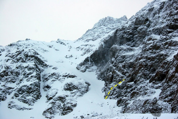 Rock Climbing Photo: The North face of Ptarmigan Peak from the trail. S...