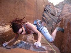 Rock Climbing Photo: yes... still working it...