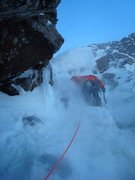 Rock Climbing Photo: Colin Haley on an ice pitch on Ski Tracks
