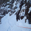 Colin Haley on a high traverse on Ski Tracks