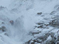 Rock Climbing Photo: Scotty getting blasted on Ski Tracks
