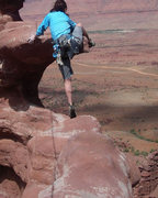 Rock Climbing Photo: Well.. here goes nothing... talk about high steppi...