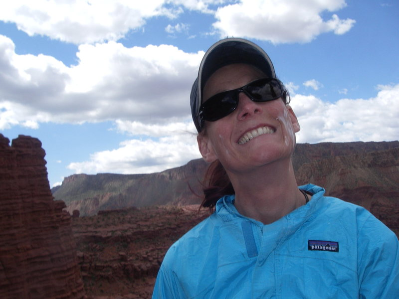Rock Climbing Photo: Happiest woman alive!