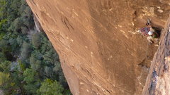 Rock Climbing Photo: Top of P3, viewed from P4.  Unknown climber from B...
