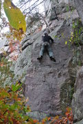 Rock Climbing Photo: Opening steep edges and horizontals wall to the ro...