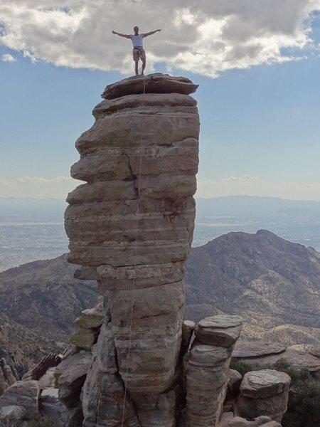Hitchcock Pinnacle, 5.10 50 ft, on Mt Lemmon in AZ