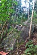 Rock Climbing Photo: On Slab Happy